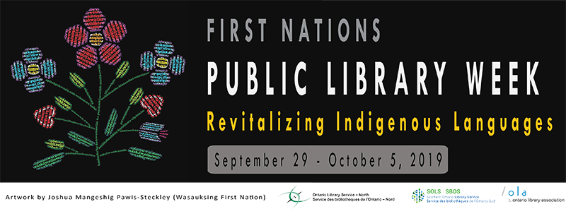 First Nations Public Library Week banner.