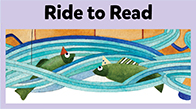 SRC illustrated button, Ride to Read.