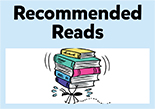 SRC illustrated button, recommended reads.