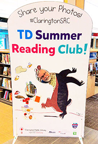 Summer Reading Club photo board.