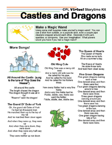 Virtual Storytime Kit, Castles and Dragons.