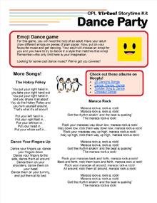 Virtual Storytime Kit, Dance Party.