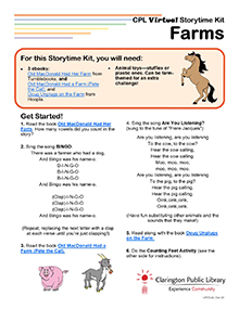 Virtual Storytime Kit, Farms.