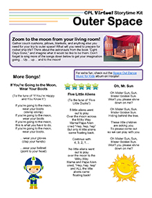 Virtual Storytime Kit, Outer Space.