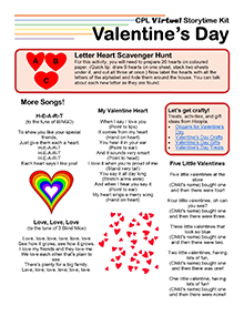 Virtual Storytime Kit, Valentine's Day.