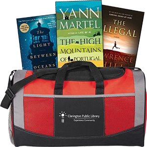 Book Club in a Bag duffel.