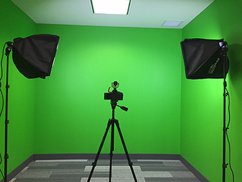photo of the Courtice green screen.