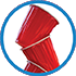 icon of stacked red cups.