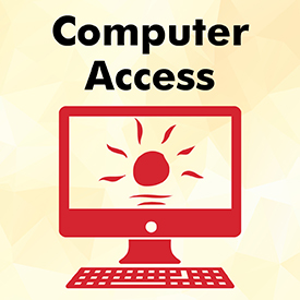 Computer access promotional graphic.