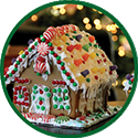 Gingerbread house icon.