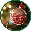 Christmas tree ornament icon.