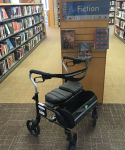wheeled accessibility walker at the Newcastle Branch.