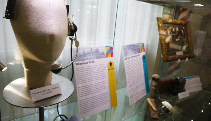 close up of exhibition.